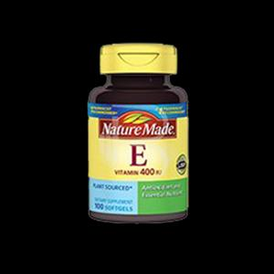 کپسول ژلاتینی ویتامین E-400 واحد نیچرمید 100 عددی  Nature Made Vitamin E-400 IU dl-Alpha 100 Tablets